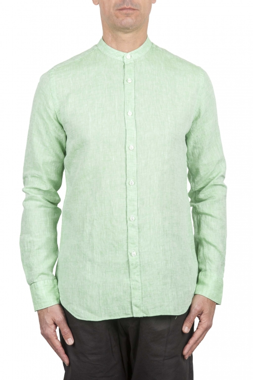 SBU 01276 マンダリンの襟のリネンシャツ 01