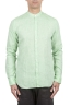 SBU 01276 Mandarin collar linen shirt 01