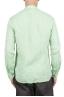 SBU 01276 Camisa de lino de collar mandarín 04