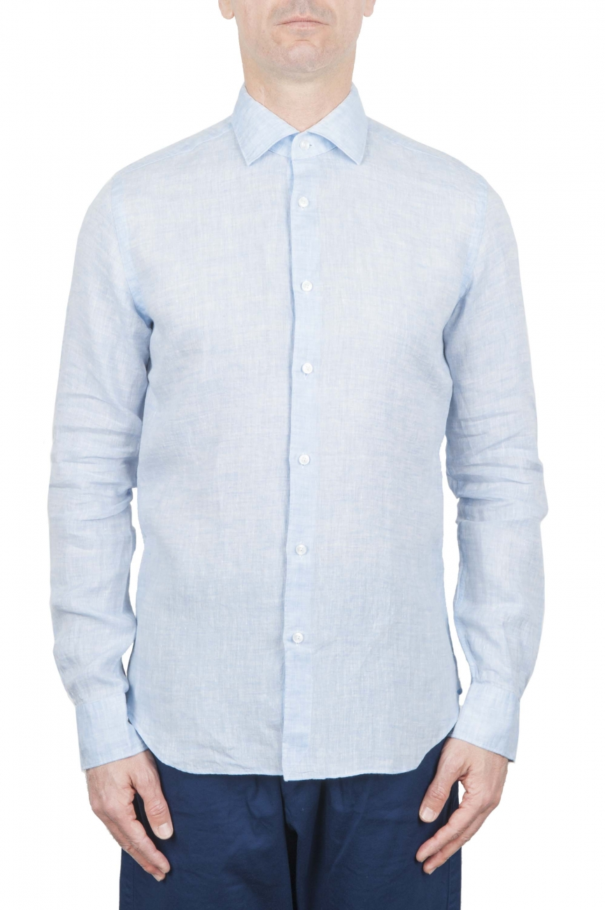 SBU 01279 Slim fit linen shirt 01