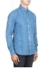 SBU 01300 Stone washed indigo dyed denim shirt 02