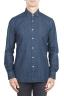 SBU 01301 Pure natural indigo dyed blue denim shirt 01