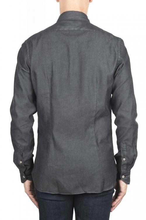 SBU 01302 Chemise denim teintée noir 01