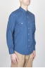 SBU - Strategic Business Unit - Classic Blue Indigo Cotton Chambray Rodeo Shirt