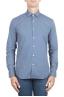 SBU 01303 Camisa de algodón estampado geométrico azul 01