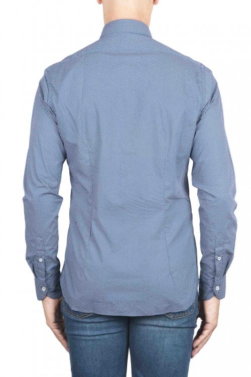 SBU 01303 Chemise en coton bleu à motifs géométriques 01