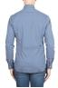 SBU 01303 Geometric printed pattern blue cotton shirt 04