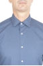 SBU 01303 幾何学模様の青い綿のシャツ 05