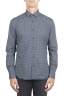 SBU 01304 Geometric printed pattern navy blue cotton shirt 01