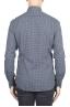 SBU 01304 幾何学模様の紺色のコットンシャツ 04