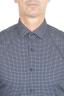 SBU 01304 Camicia fantasia in cotone stampato blu navy 05