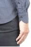 SBU 01304 Camicia fantasia in cotone stampato blu navy 06