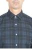 SBU 01305 チェック模様の青い綿のシャツ 05