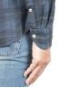SBU 01305 チェック模様の青い綿のシャツ 06