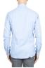 SBU 01307 Plain soft cotton blue flannel shirt 04