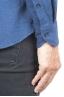 SBU 01308 Camicia in flanella di cotone tinta unita indaco 06
