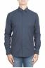 SBU 01309 Camisa de franela azul marino de algodón suave 01