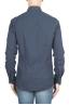 SBU 01309 Camicia in flanella di cotone tinta unita blu navy 04