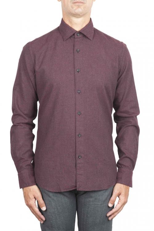 SBU 01310 Plain soft cotton caret flannel shirt 01