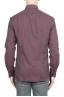 SBU 01310 ボルドーのソリッドカラーの綿のフランネルシャツ 04