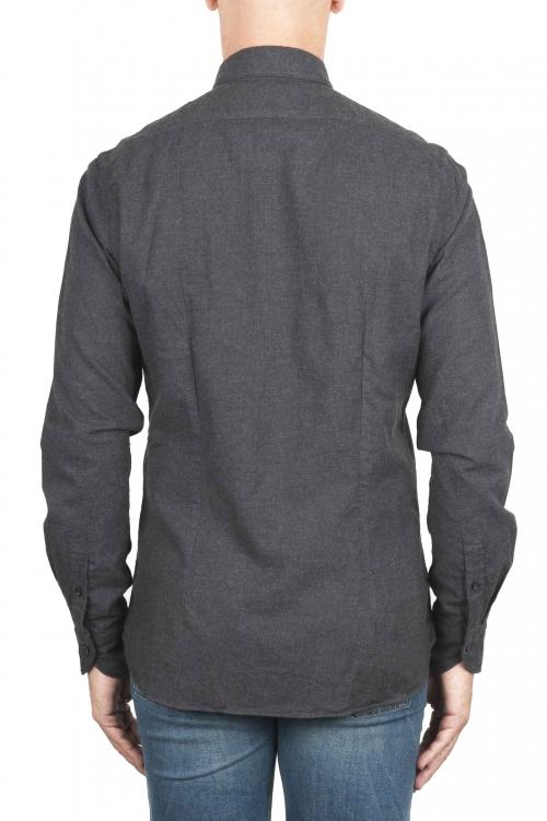 SBU 01311 Camicia in flanella di cotone tinta unita grigia 01