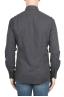 SBU 01311 Camicia in flanella di cotone tinta unita grigia 04