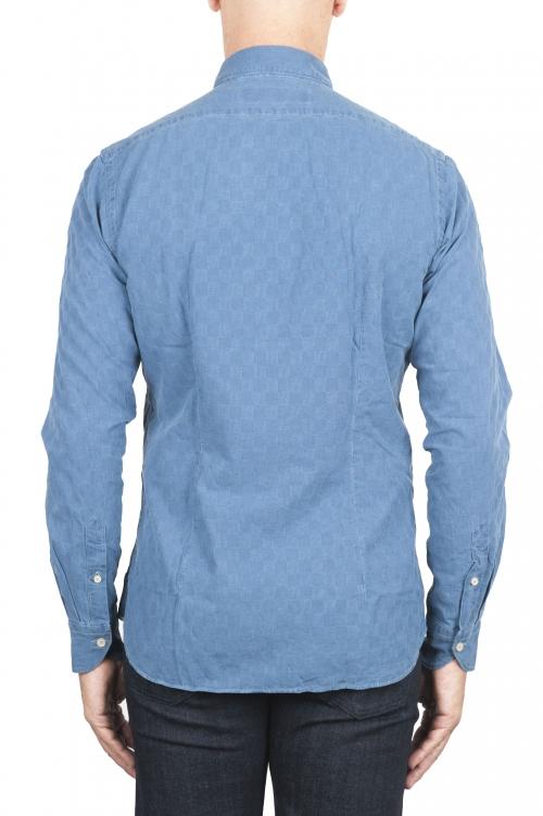 SBU 01312 天然インジゴ染めエンボスコットンシャツ 01