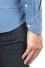 SBU 01312 天然インジゴ染めエンボスコットンシャツ 06