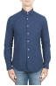 SBU 01313 Pure indigo dyed embossed cotton shirt 01