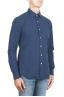 SBU 01313 Camisa de algodón en relieve teñido añil puro 02