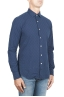 SBU 01313 Pure indigo dyed embossed cotton shirt 02