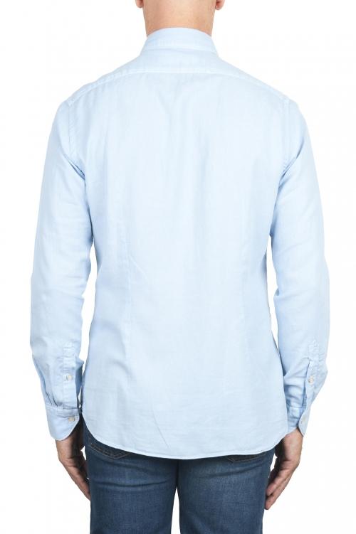 SBU 01314 Camisa de sarga de algodón azul 01