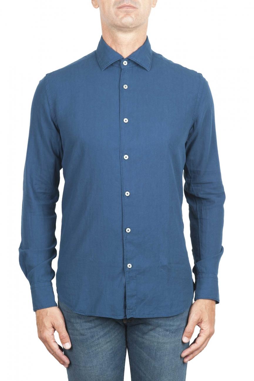 SBU 01315 インディゴコットンツイルシャツ 01
