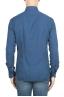 SBU 01315 Camisa de sarga de algodón añil 04