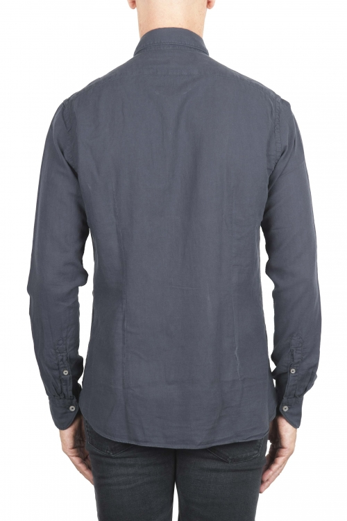 SBU 01316 Camicia in twill di cotone grigia 01