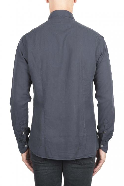 SBU 01316 Camisa de sarga de algodón gris 01
