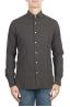 SBU 01317 Brown cotton twill shirt 01