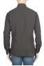 SBU 01317 Brown cotton twill shirt 04
