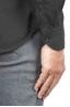 SBU 01318 Camicia in twill di cotone nera 06