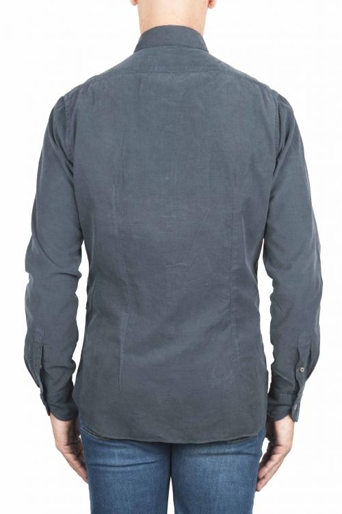 SBU 01320 Chemise en coton gris velours 01