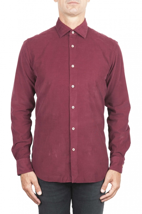 SBU 01322 Red corduroy cotton shirt 01