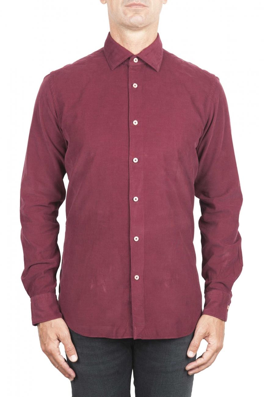 SBU 01322 Chemise en coton rouge velours 01
