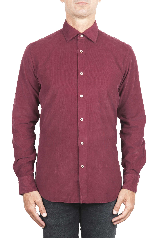 SBU 01322 Red corduroy cotton shirt 01