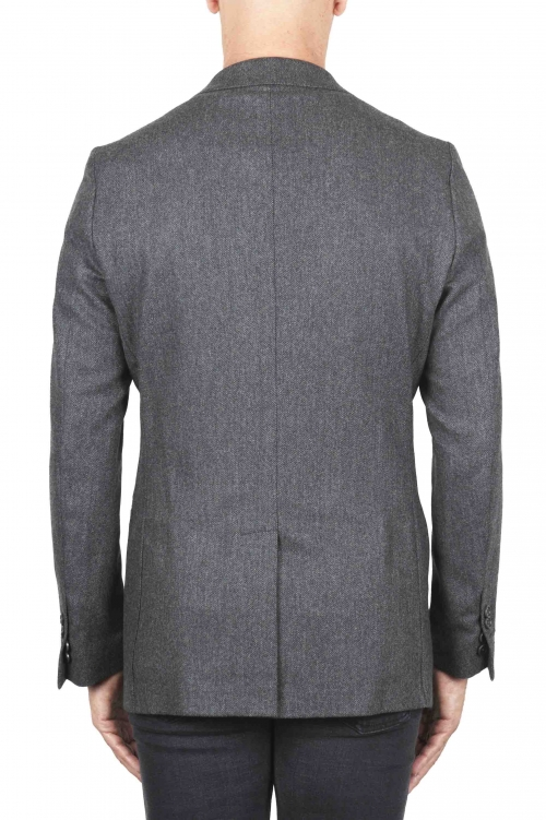 Herringbone grey blazer