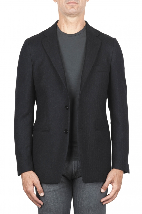 Herringbone black blazer