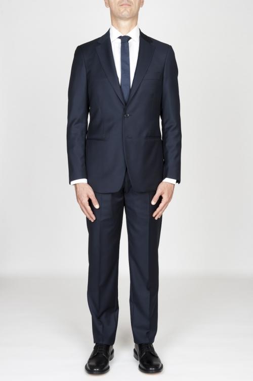 Blazer et pantalon de l habillement formel pour hommes en laine fraîche bleu marine