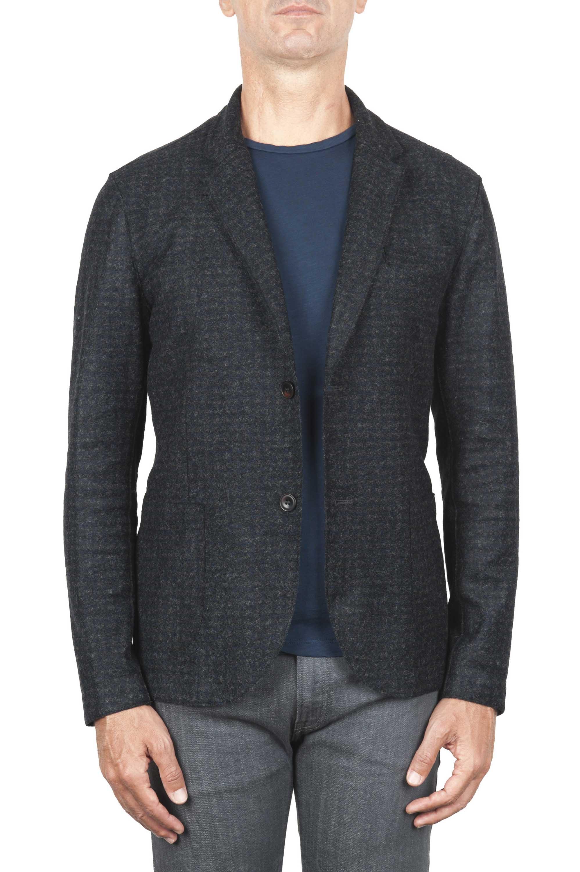 SBU 01338 Chaqueta deportiva en mezcla de lana desestructurada y sin forro 01