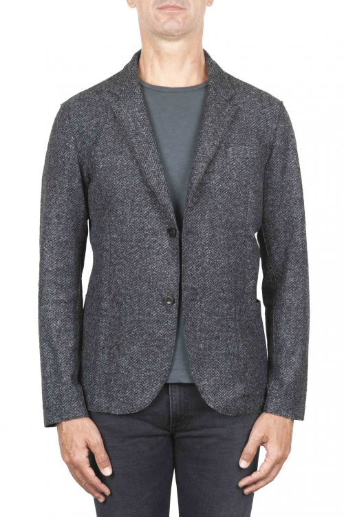 SBU 01339 Chaqueta deportiva en mezcla de lana desestructurada y sin forro 01