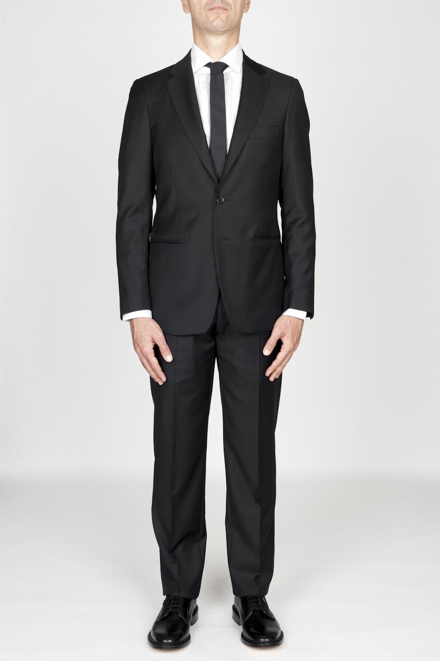 SBU - Strategic Business Unit - MenS Black Cool Wool Formal Suit Blazer And Trouser
