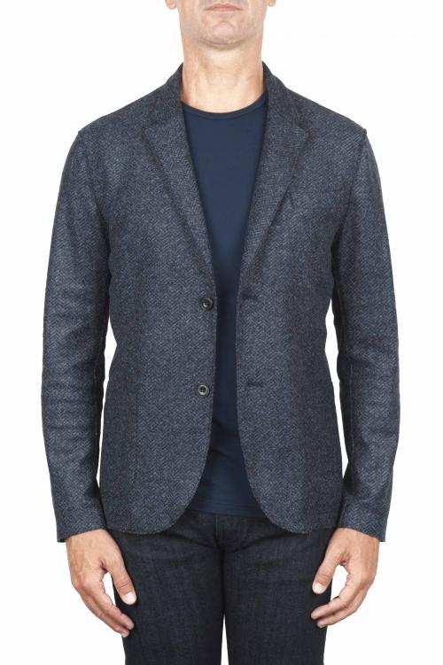 SBU 01441 Chaqueta deportiva en mezcla de lana desestructurada y sin forro 01